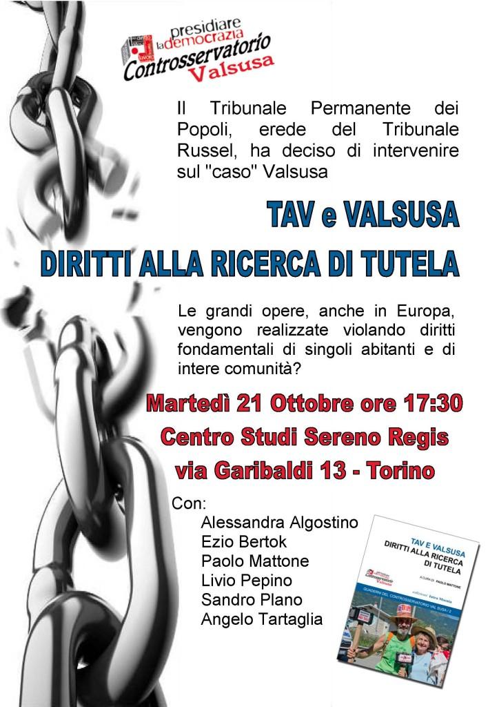 Locandina Torino 21-10-2014