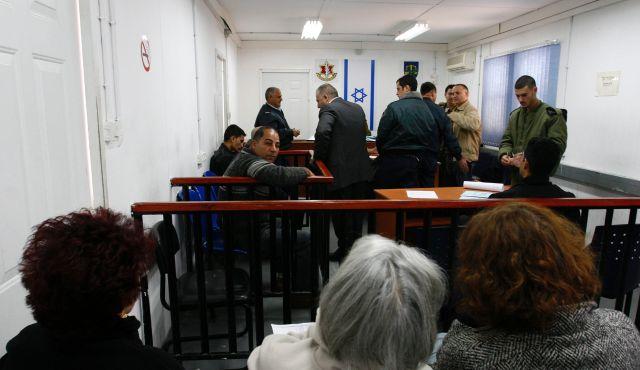 Un tribunale militare nel carcere di Camp Ofer, vicino a Ramallah