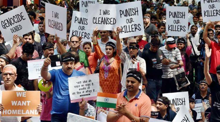 kashmir-pandit-protest