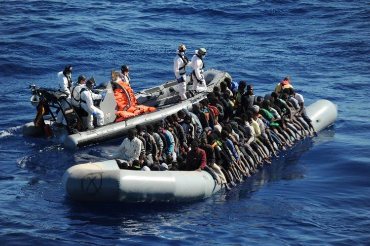 Open Arms al largo della Libia