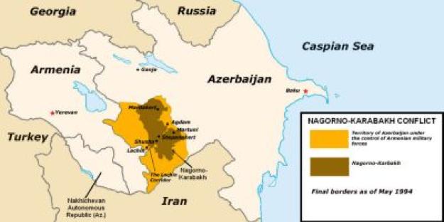 Mappa del Nagorno-Karabach. Fonte: moe.org